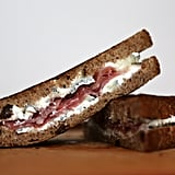 Entrée: Humboldt Fog Goat Cheese and Prosciutto Grilled Cheese