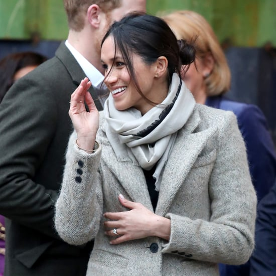 Meghan Markle January 2018 Royal Engagement Hair in a Bun
