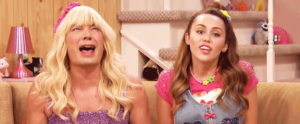 "Miley Cyrus Looks So Much Like Her Old Self During ""Ew!"" With Jimmy Fallon"