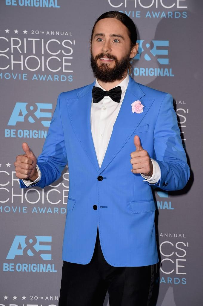 Jared Leto Man Bun Critics' Choice Awards