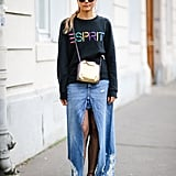 Style It With a Long-Sleeved Shirt and Flats