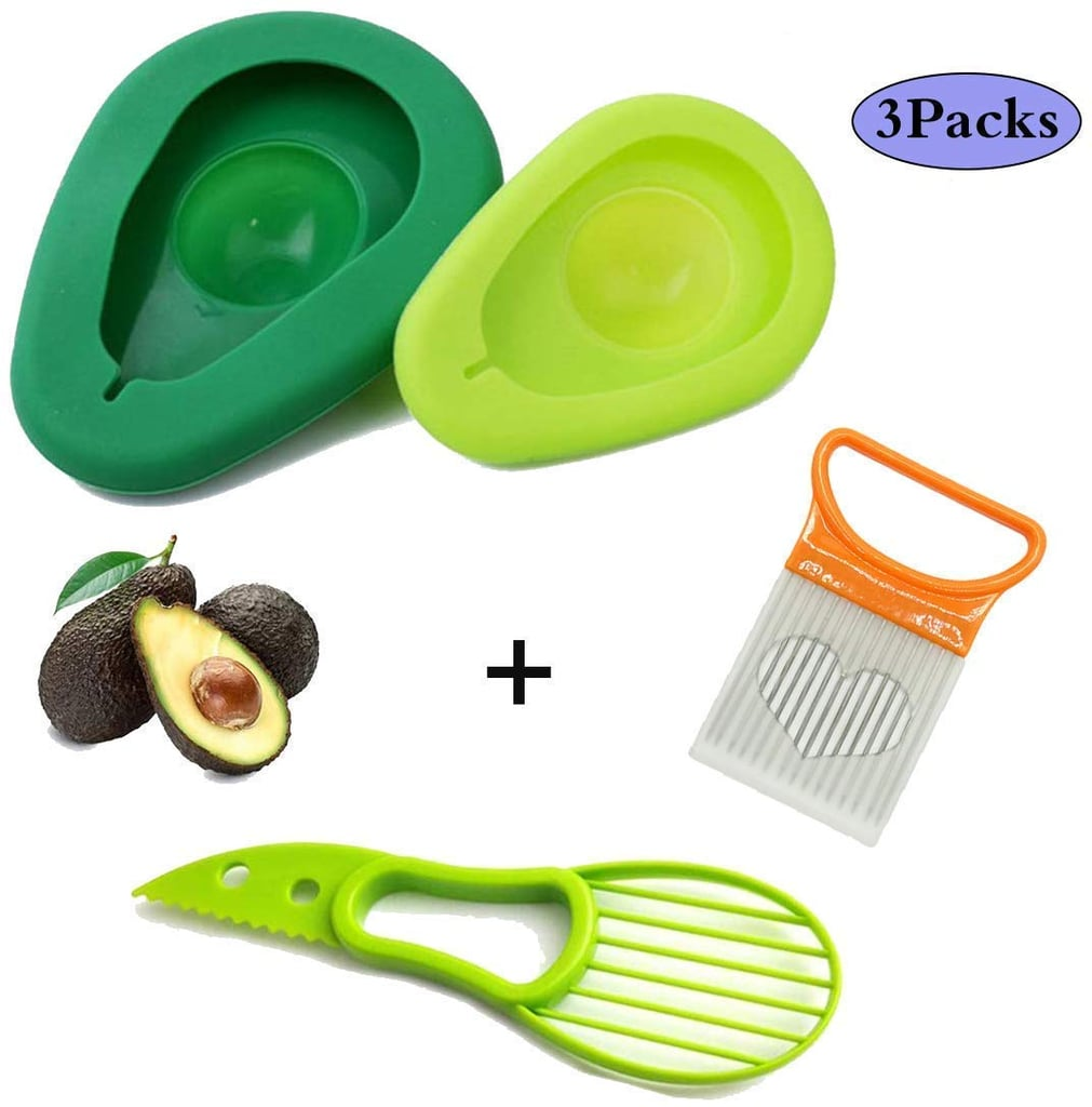 3-in-1 Avocado Saver and Silicone Food Storage Holder