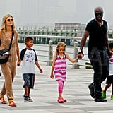 Heidi and Seal took their oldest kids out for an NYC walk in June last year.