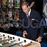 Prince William plays at Maison Dauphine.