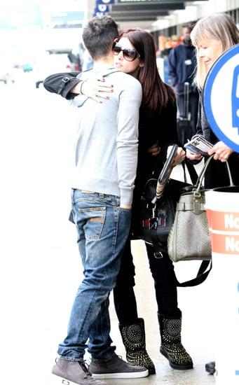 Pictures of Joe Jonas and Breaking Dawn's Ashley Greene, Dakota Fanning and Kellan Lutz at LAX
