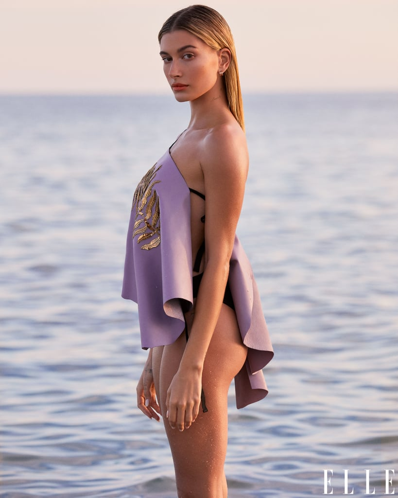 Hailey Bieber in Elle's March 2020 Issue