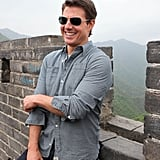 Tom Cruise joked around at the Great Wall of China.