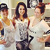 Jessica Alba headed to SoulCycle for a 7 a.m. sweat session.