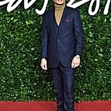 Ed Westwick at the British Fashion Awards 2019