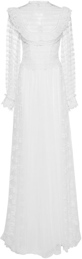 Costarellos Tulle and Lace Stripe Gown ($4,370)