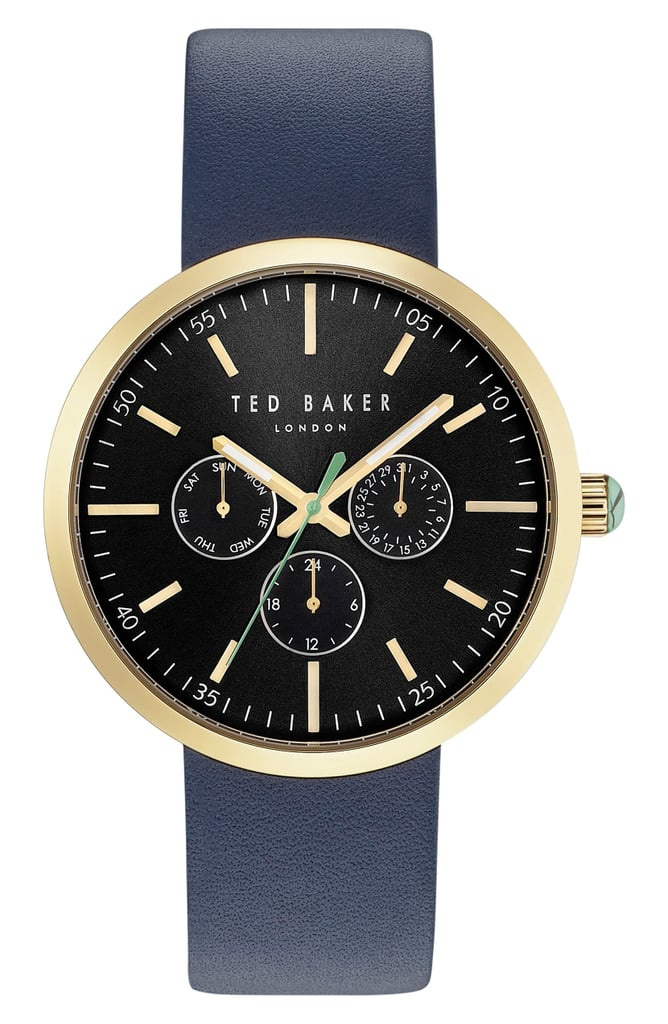 Ted Baker London Jack Multifunction Leather Strap Watch