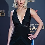 Jennifer Lawrence Trips at Madrid Premiere of Mockingjay