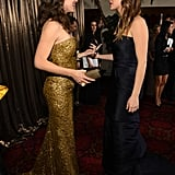 Jennifer Lawrence ran into an excited Jennifer Garner backstage at the SAG Awards.