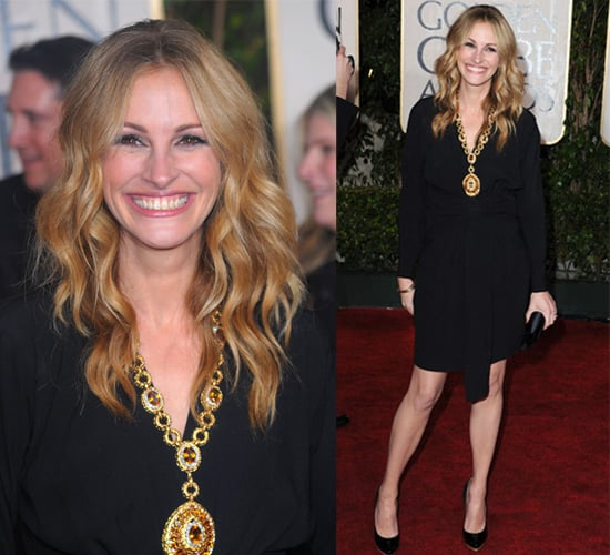 Julia Roberts in Yves Saint Laurent at the 2010 Golden Globe Awards