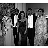 Kim and Kanye posed for a photo with Vogue Italia Editor in Chief Franca Sozzani as well as Valentino designers Maria Grazia Chiuri and Pier Paolo Piccioli. Source: Instagram user kimkardashian