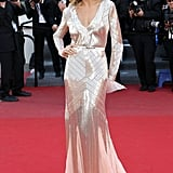 Petra Nemcova wore Emilio Pucci at the Cannes premiere of Cleopatra.