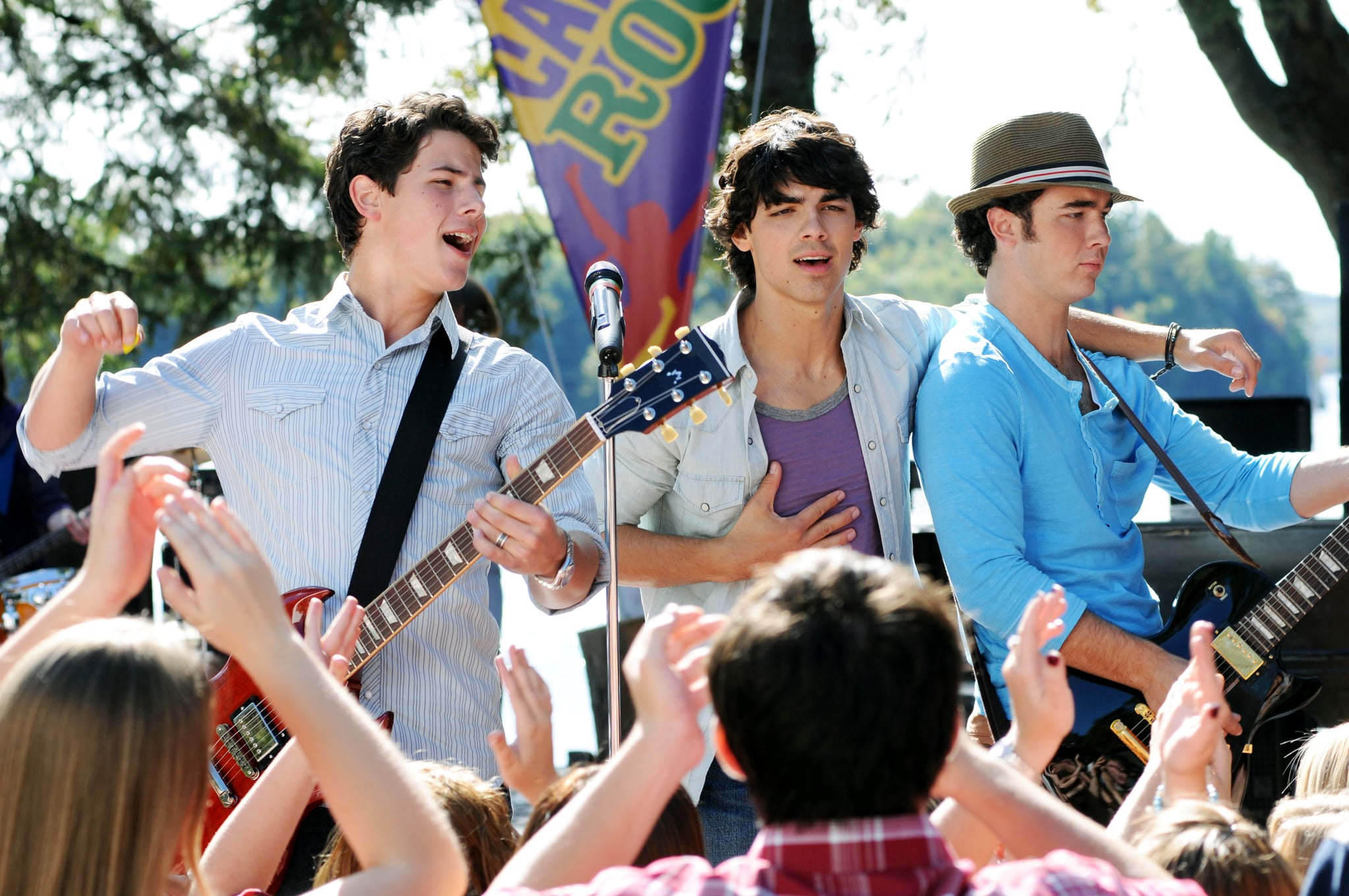 CAMP ROCK: THE FINAL JAM (aka CAMP ROCK 2), Nick Jonas, Joe Jonas, Kevin Jonas, aired September 3, 2010, photo: John Medland /  Disney Channel / courtesy Everett Collection