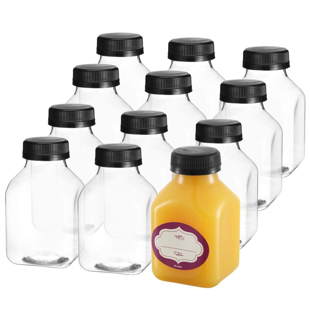 8 Oz Empty Plastic Juice Bottles with Lids