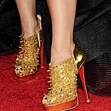 Olivia Wilde in spiky Louboutins. Major danger if she kicks you.