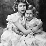 They wrapped their arms around each other for this sweet portrait on Elizabeth's 14th birthday in 1940.