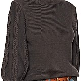 Cable Stitch Cable Sleeve Ribbed Sweater