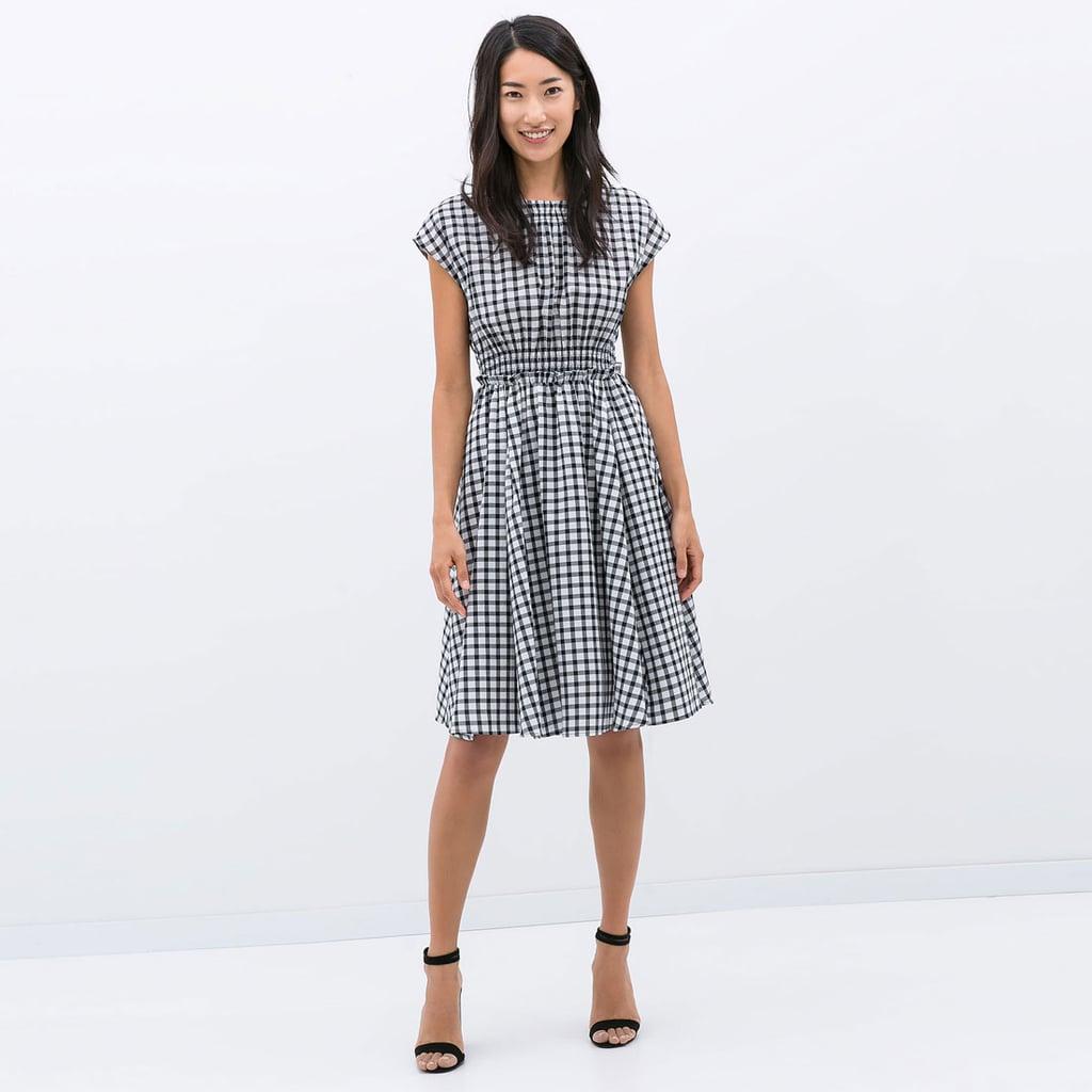zara gingham dress popsugar fashion