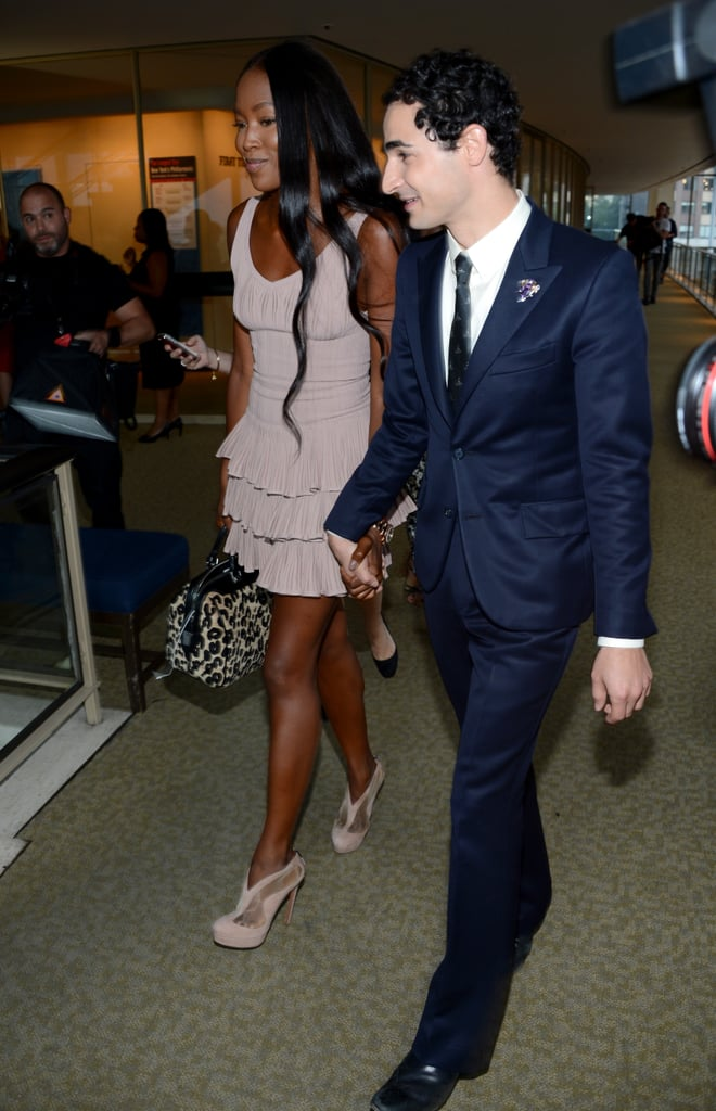 Naomi Campbell walked with Zac Posen.