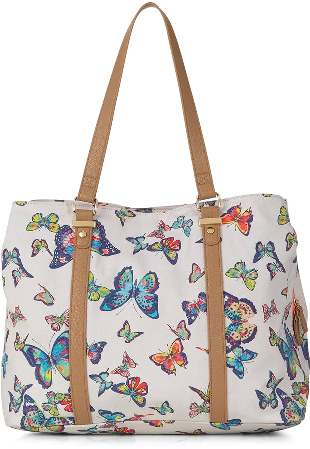 Monsoon Butterfly Beach Tote Bag