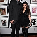 Kim Kardashian was on hand to support her then-new boyfriend, basketball player Kris Humphries, at the NBA All-Star weekend party in LA in February 2011.