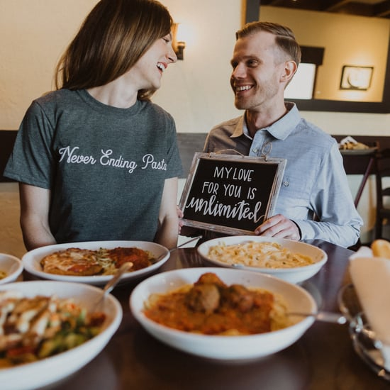 Olive Garden Engagement Shoot