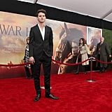Jeremy Irvine hit the red carpet at Lincoln Center.