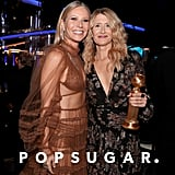 Gwyneth Paltrow and Laura Dern at the 2020 Golden Globes