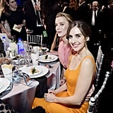 Betty Gilpin and Alison Brie at the 2020 Critics' Choice Awards