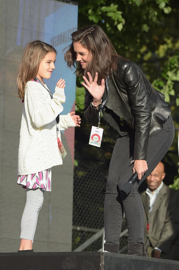 Katie Holmes and Suri Cruise attended the Global Citizen Festival together in NYC on Saturday. The actress and her 9-year-old daughter bonded on stage and waved to the crowd before Katie gave a speech. We haven't seen much of the two since their appearance at the Nickelodeon Kids' Choice Awards back in March, but Katie has shared a handful of heartwarming mother-daughter moments on Instagram. See the duo during their adventure in the Big Apple, then check out more sweet celebrity moments of 2015.