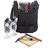 Insulated Travel Wine Tote Bag