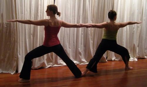 Partner Yoga Pose:  Double Warrior 2