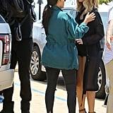 Kim Kardashian and Chrissy Teigen Out in LA May 2016