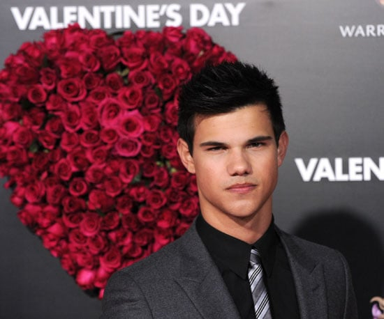 Slide Photo of Taylor Lautner at Valentine's Day Premiere