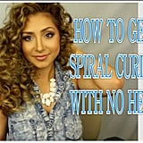 How to Get Spiral Curls With No Heat