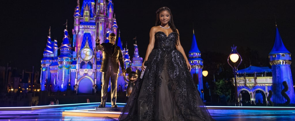 Halle Bailey's Black Gown For Disney World 50th Anniversary