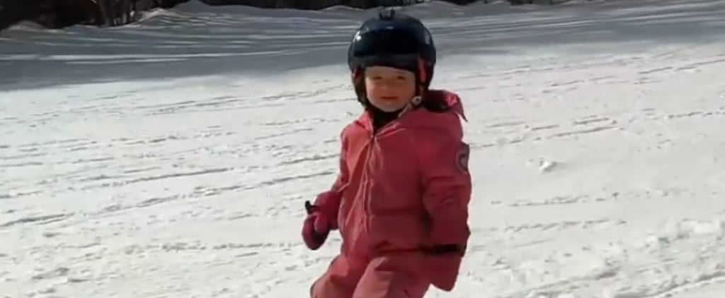 Dad Puts Microphone on 2-Year-Old Daughter Skiing | Videos