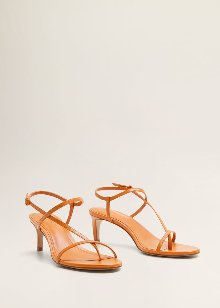bed90042710f Mango Leather Strap Sandals