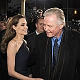 Proud dad Jon Voight was on hand for a December 2011 screening of Angelina Jolie's In the Land of Blood and Honey in LA.