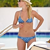 Julianne rocked a printed bikini poolside in May 2011 in Miami.