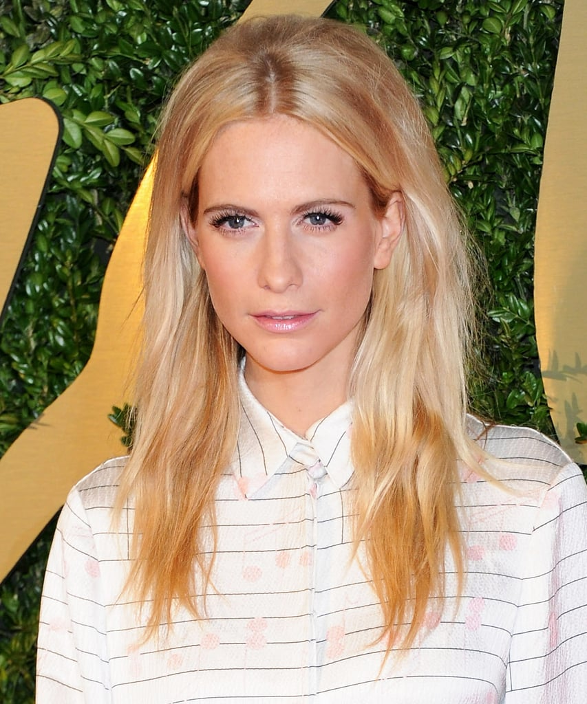 Poppy Delevingne gave us a slightly mod beauty look with her teased crown and fluttery lashes.