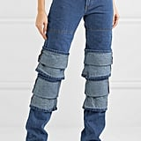 Y/Project Layered High-Rise Straight Leg Jeans