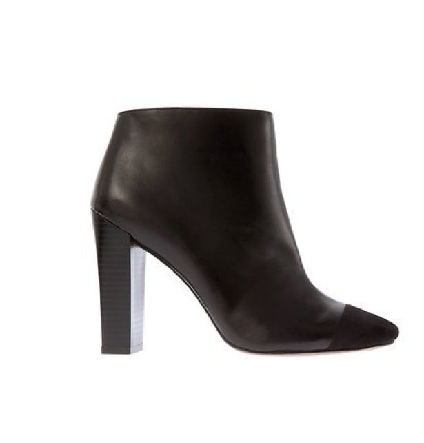 For the sophisticate, try these Loft Juliet cap-toe booties ($128) on for size.