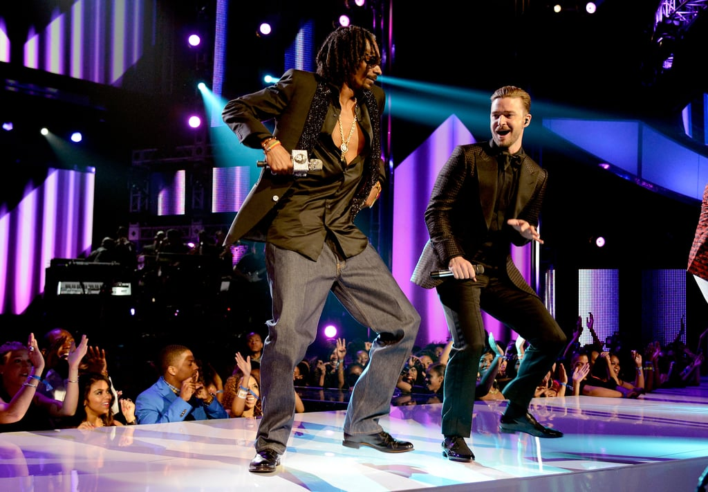 Snoop Lion danced on stage with Justin Timberlake.