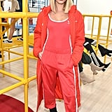 Style a Red Bodysuit With Your Pants Like Hailey Baldwin