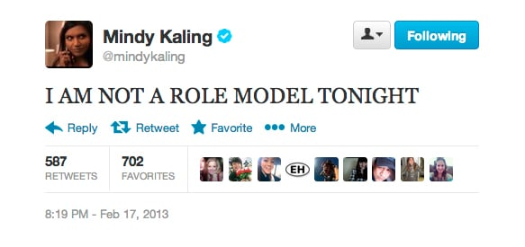 Mindy Kaling had a non-role-model night.